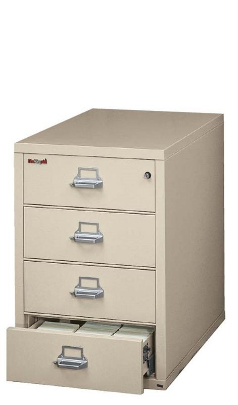 FireKing 4-2536-C Fireproof Four Drawer Card Check and Note Filing Cabinet