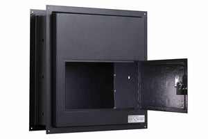Protex WDS-311 Black Through-The-Wall Letter/Payment Drop Box