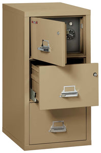 FireKing 3-2131-CSF Safe in a Fireproof 3 Drawer File Cabinet