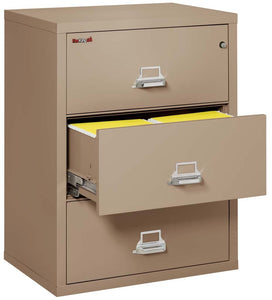 "FireKing 3-3122-C Three Drawer 31"" Lateral Fireproof File Cabinet"