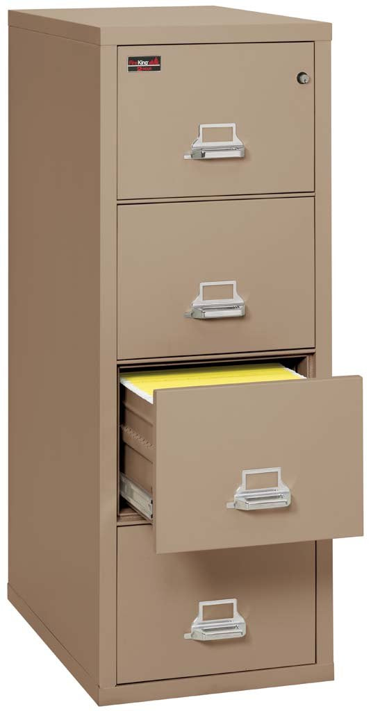 FireKing 4-1956-2 Four Drawer Vertical Letter Size Filing Cabinet