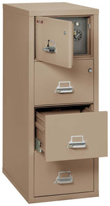 FireKing 4-2131-CSF Safe in a Fireproof 4 Drawer File Cabinet