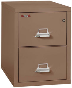 "FireKing 2-1831-C Two Drawer 31"" Deep Vertical Letter Size File Cabinet"