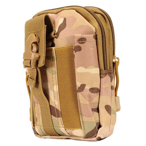 Camo Dual Zipper Tactical Heavy-Duty Rugged Carrying Pouch, Multi-Color