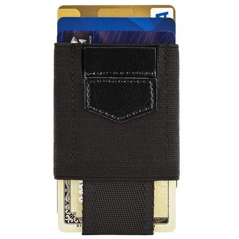 Slim Elastic Card Holder Wallet, Black