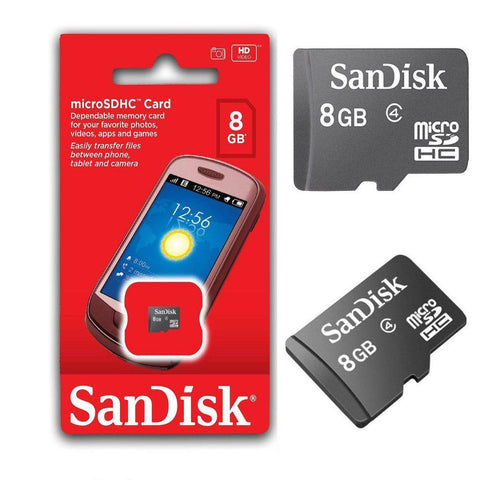 Image of SanDisk 8GB MicroSDHC Memory Card, Black