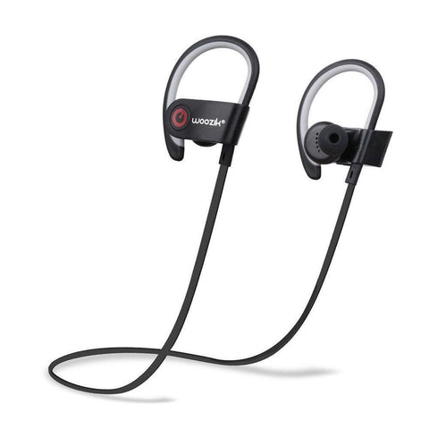 Woozik Wireless Bluetooth Sports Headset, Black