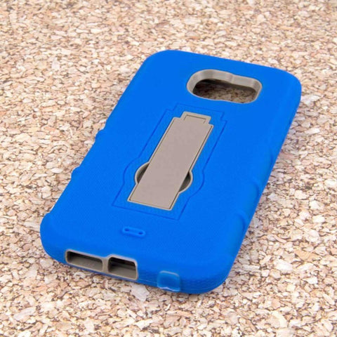 Mpero Impact Xs Series Dual Layered Hybrid Kickstand Case Blue Phone Cases & Covers
