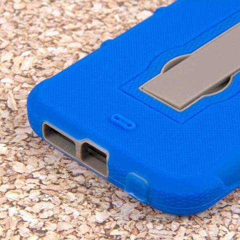 Image of Mpero Impact Xs Series Dual Layered Hybrid Kickstand Case Blue Phone Cases & Covers