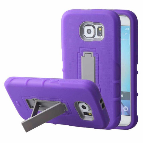 Image of Mpero Impact Xs Series Dual Layered Hybrid Kickstand Case Purple Phone Cases & Covers