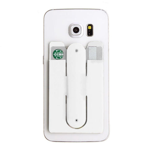 2in1 Phone Stand and Credit Card Holder, White