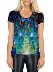 Theory of Droplet Dimensions SCOOP NECK T-SHIRT