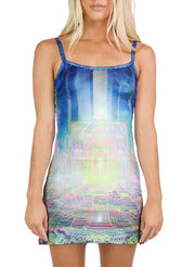 Jungle Light Tech Mini Dress