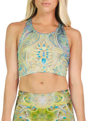 Cosmic Mother Exhales Racerback Crop