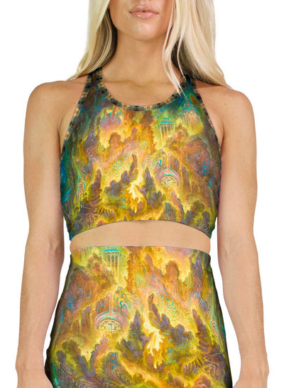 Misty Mountains Racerback Crop Top