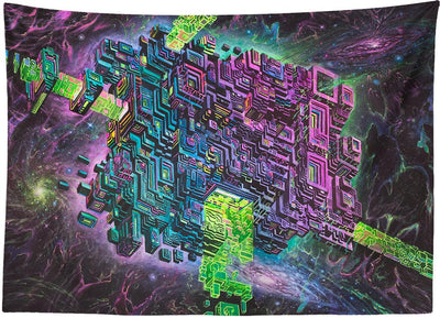 Fluorite Space Jammer Tapestry
