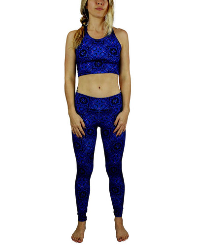 Terra Pattern Racerback Crop Top