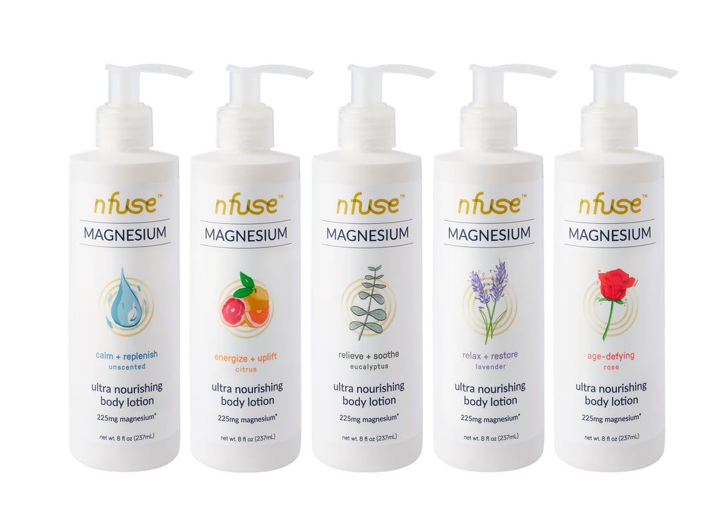 nfuse natural magnesium lotions