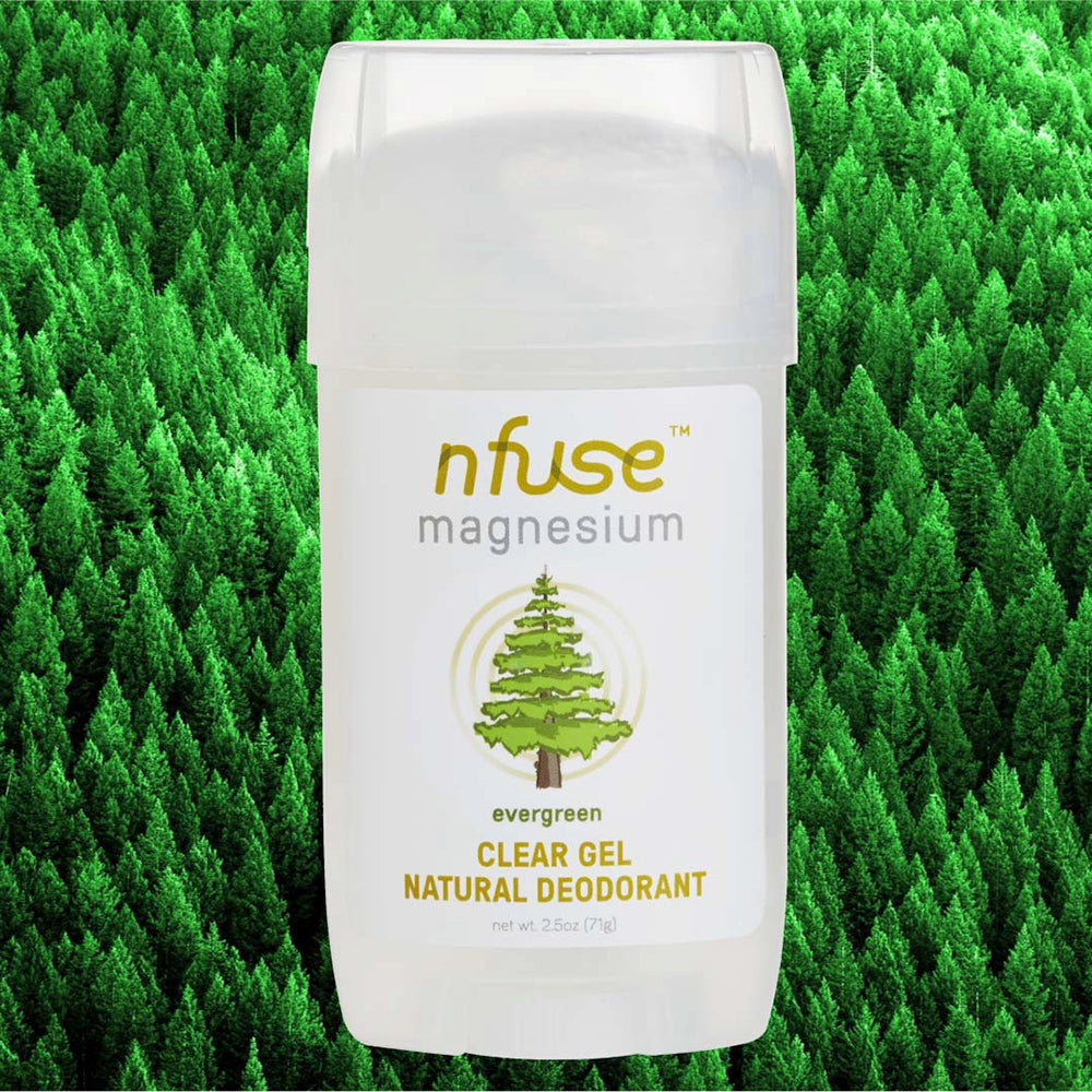 Evergreen Natural Magnesium Clear Gel Deodorant: Refresh + Renew