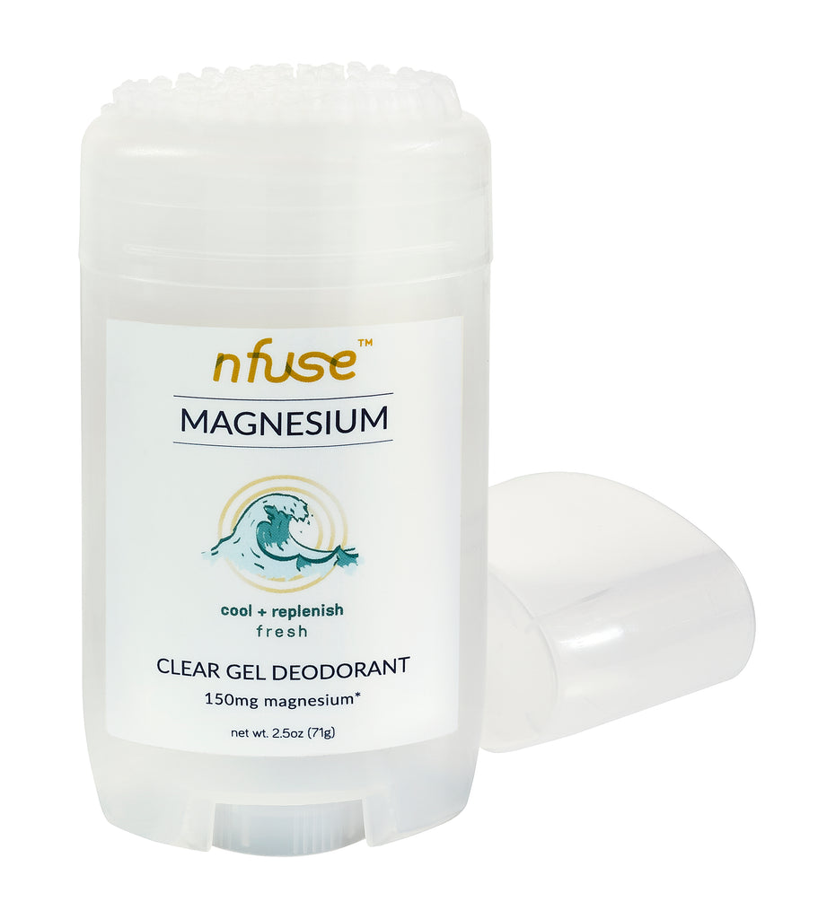 Fresh Natural Magnesium Clear Gel Deodorant: Cool + Replenish