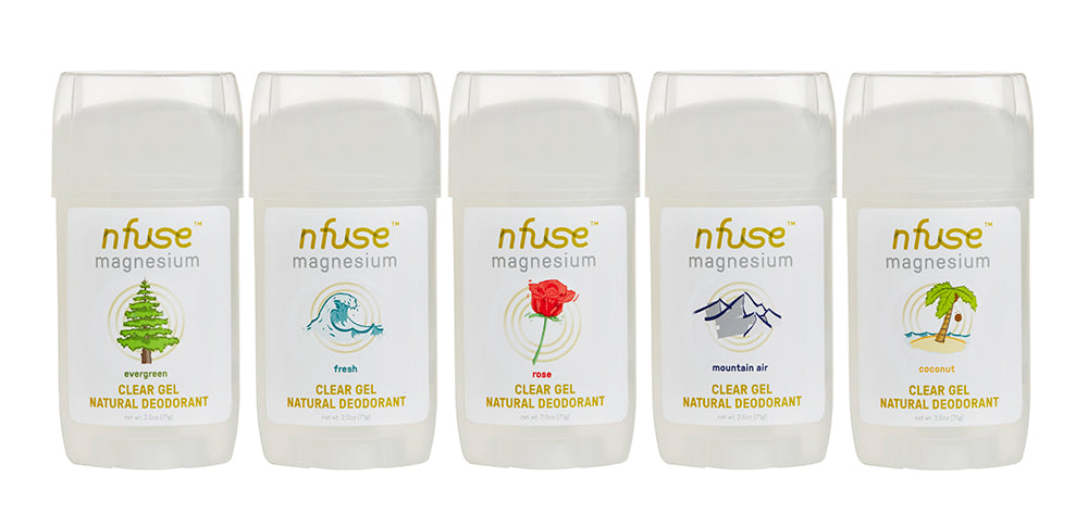 Rose Natural Magnesium Clear Gel Deodorant: Soothe + Uplift