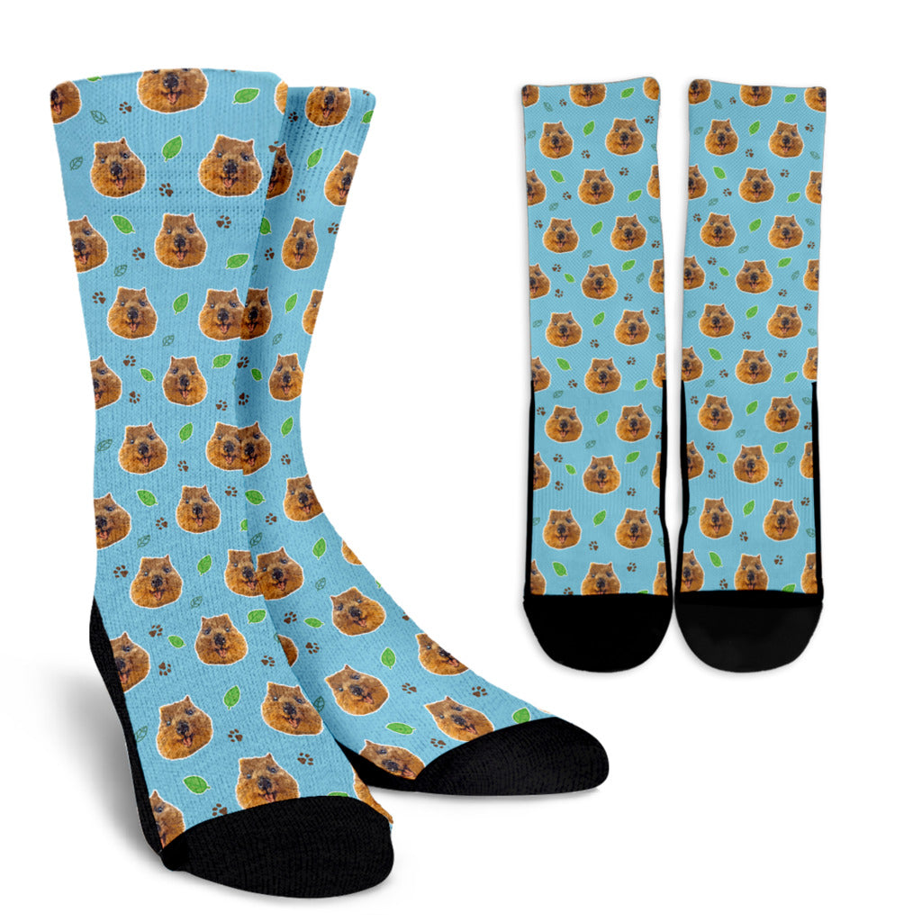 Quokka Socks - Leaf Smiles