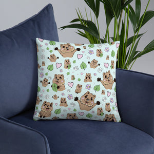 Quokka Smiles Throw Pillow