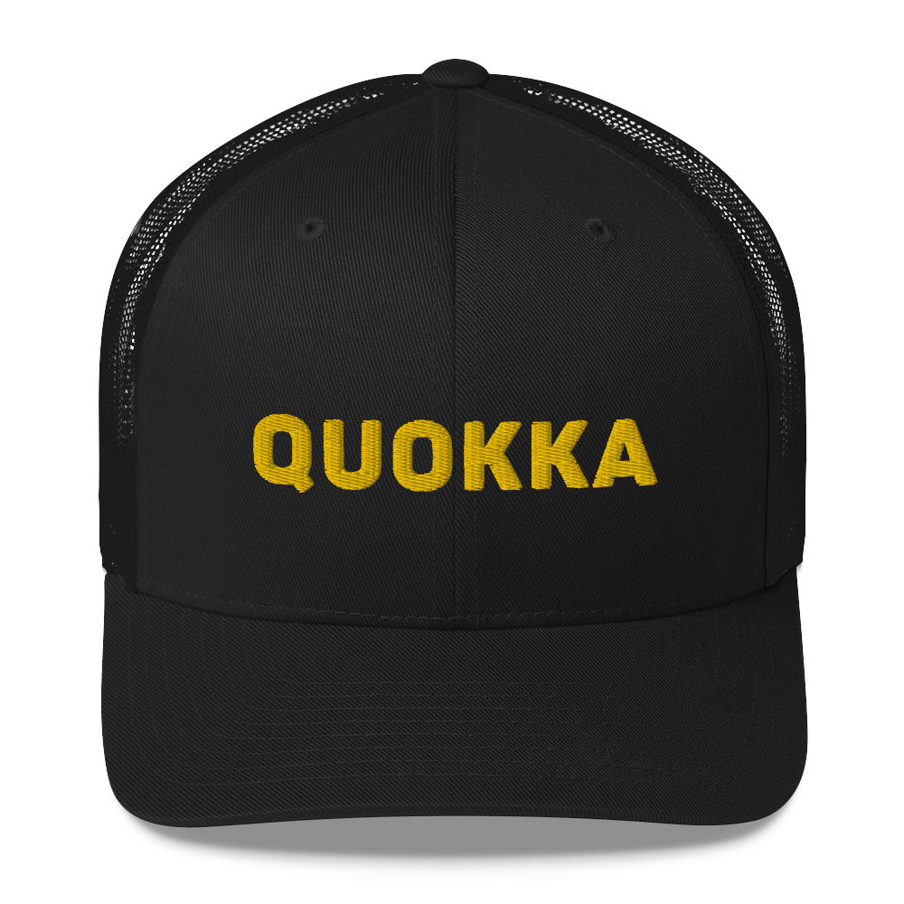 Quokka Trucker Cap - 3D Text