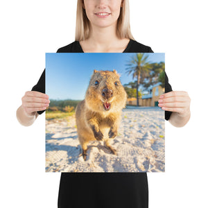 Quokka Smile Bright Poster - With Personalization