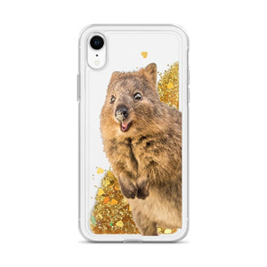 Quokka iPhone Case - Interactive Liquid Glitter-Quokka Hub