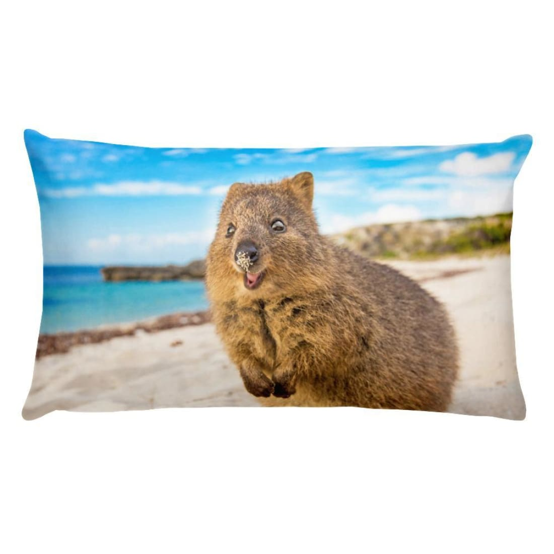 Quokka Smile Throw Pillow Case - Wide-Quokka Hub