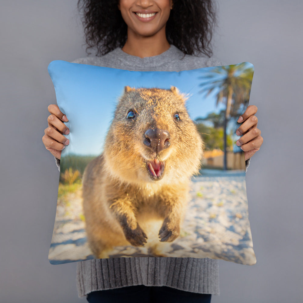 Quokka Bright Smile Throw Pillow Case