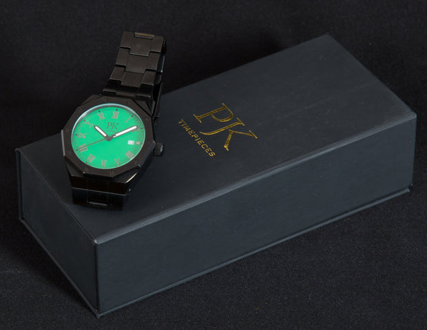 Green Moon Steel Watch
