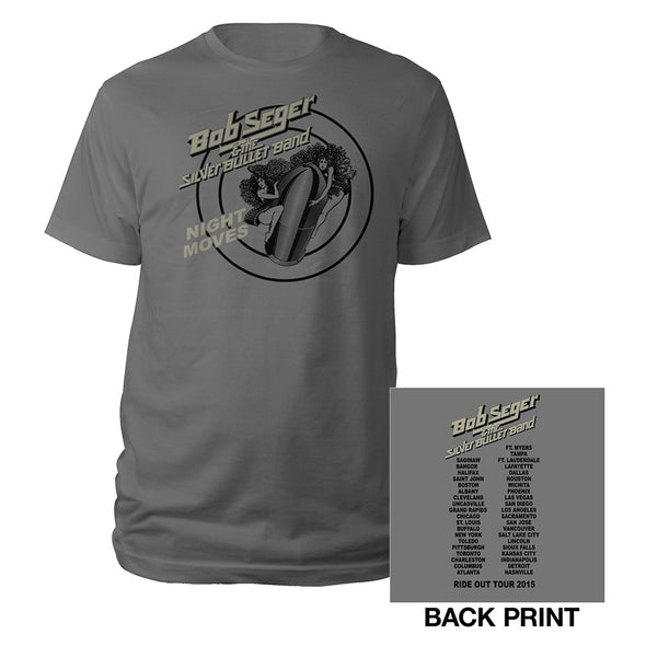 Girls on The Bullet Tour 2015 Tee-Bob Seger