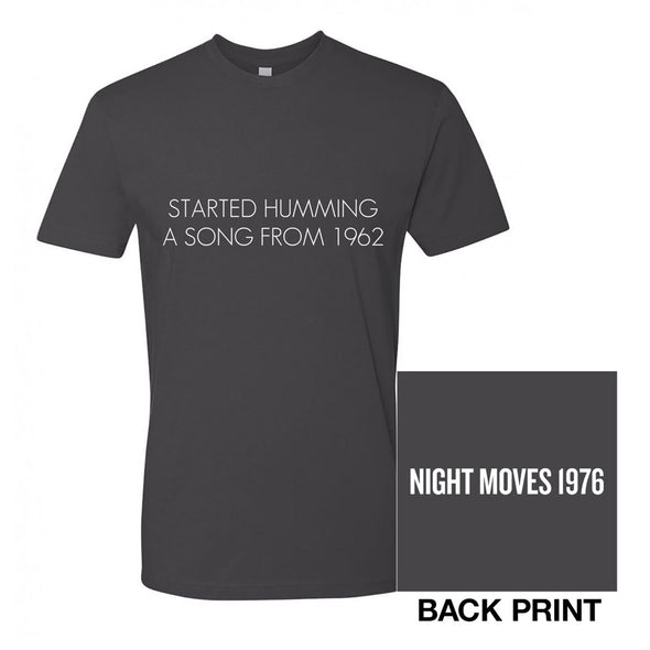 Night Moves Lyric Tee-Bob Seger