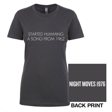 Night Moves Ladies Lyric Tee-Bob Seger