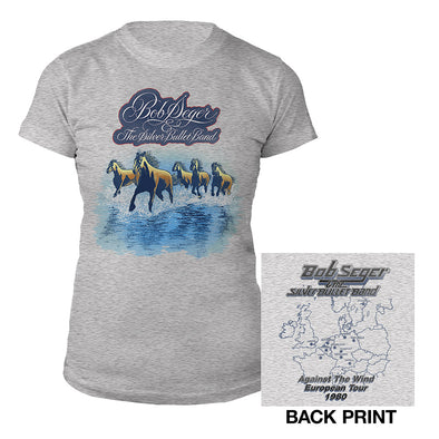 Against the Wind Vintage Tour Ladies Tee-Bob Seger
