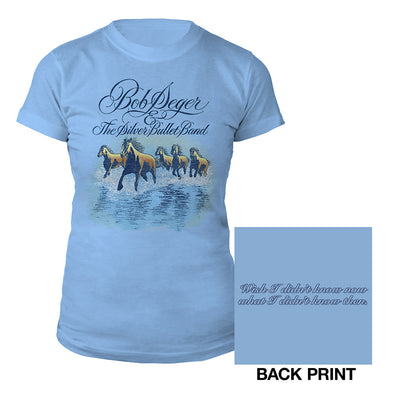 Against the Wind Ladies Tee-Bob Seger