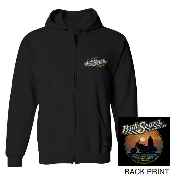 Roll Me Away The Final Tour Zip Hoodie-Bob Seger