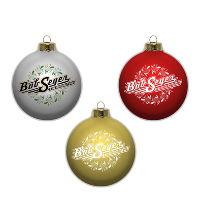 Bob Seger Holiday Ornament Set of 3