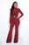Ciara Jumpsuit - Brick Red