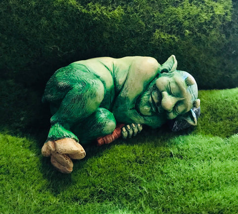 Sleeping Faun statue, Sleeping Troll Statue, Faun Statue by Soto Collective
