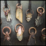 Copper Electroformed Crystal Pendants by Soto Collective