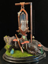 Load image into Gallery viewer, Fae Castle Relic pendant on chain, included bonus stand