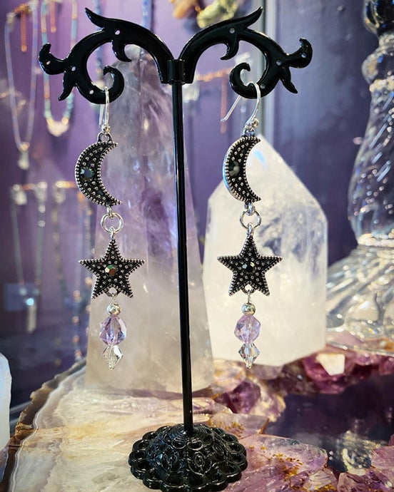 Celestial Amethyst earrings