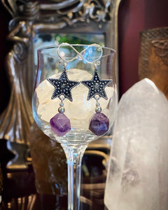 Celestial Star Amethyst earrings