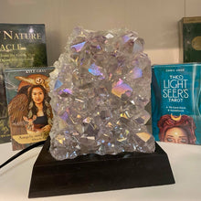 Load image into Gallery viewer, Aura Plated Amethyst Crystal Lamp