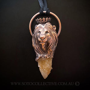 Crowned Lion Totem pendant