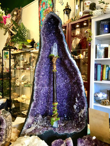 Faerie Castle Wand, Crystal Wand by Soto Collective, Magick wand by Soto Collective