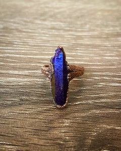 Rainbow Aura point Copper Ring